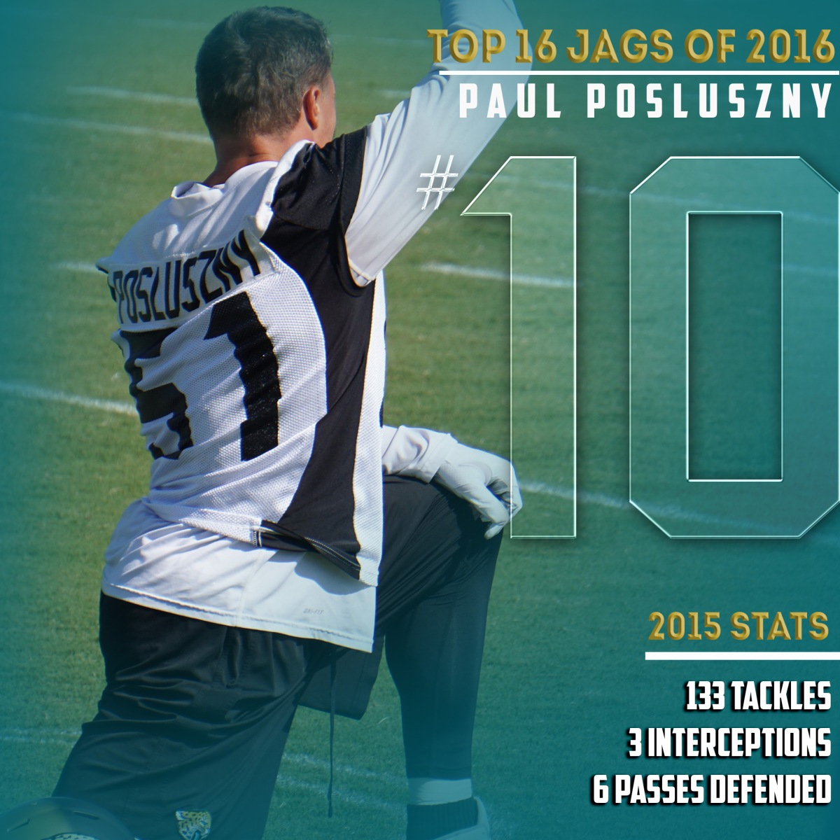 The Top 16 Jaguars of 2016 10 Paul Posluszny – River City Rogue